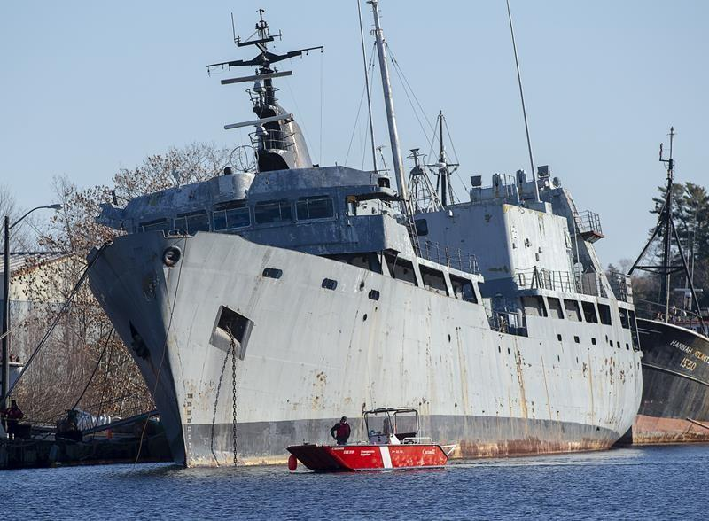 Local MP applauds as coast guard works to secure derelict ship from N.S. river