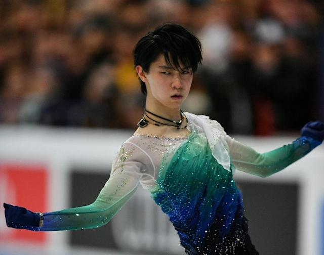 Japan's Yuzuru Hanyu in action during the free programme at the World Figure Skating Championships in Helsinki, on April 1, 2017 (AFP Photo/)