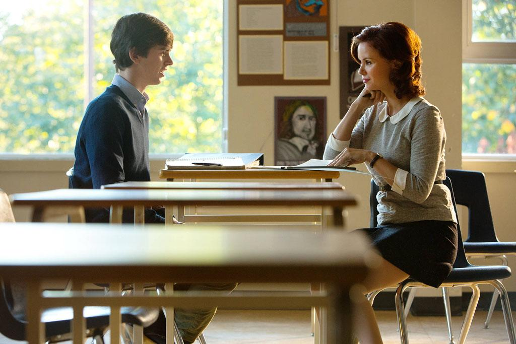 "Norman Bates and Miss Watson in A&E's ""Bates Motel"" coming in March 2013."