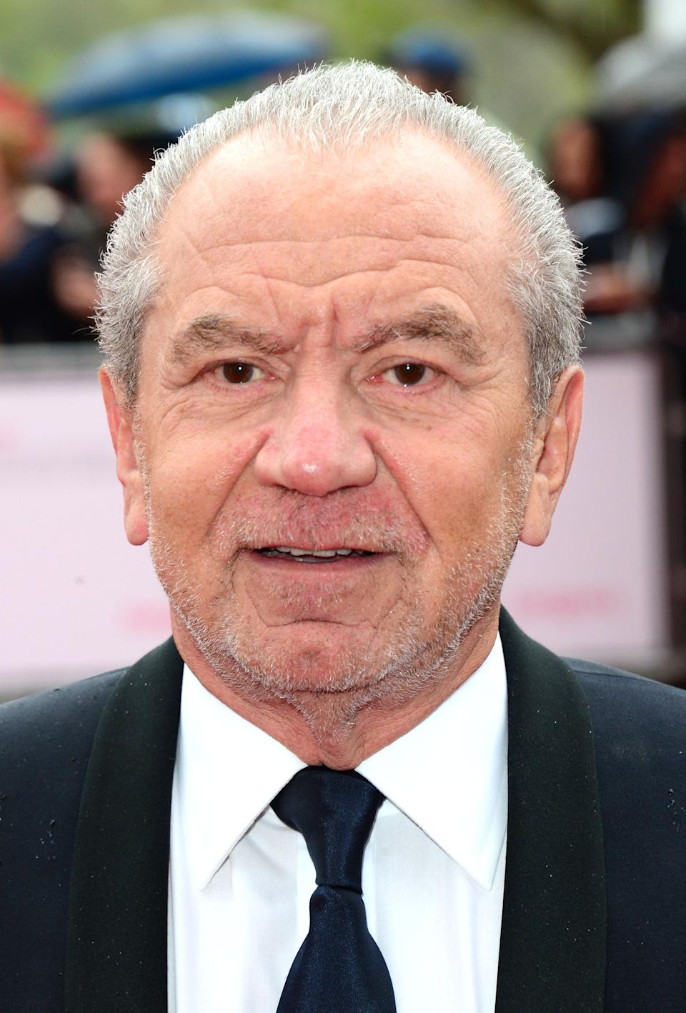 Sir Alan Sugar at the Arqiva British Academy Television Awards BAFTA in London, May 12th, 2013. (Photo by Jon Furniss/Invision/AP)