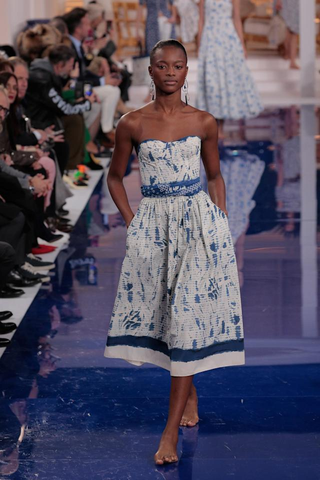 Ralph Lauren's Spring 2018 see-now-buy-now collection presented a glossy view of America at a time when the country is anything but. (Photo: Getty Images)