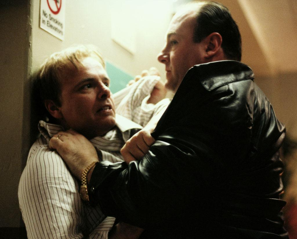 "Joe Pantoliano, James Gandolfini in HBO's ""The Sopranos."""