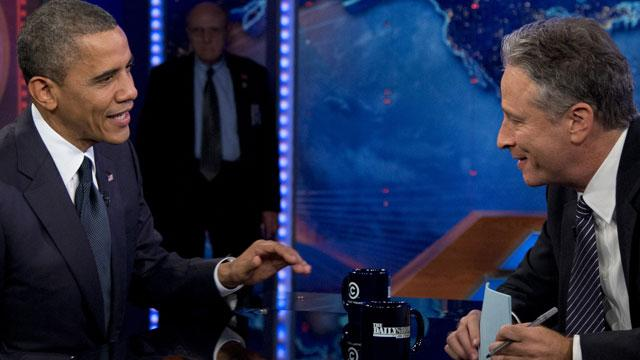 Stewart Presses Obama on 'Daily Show'