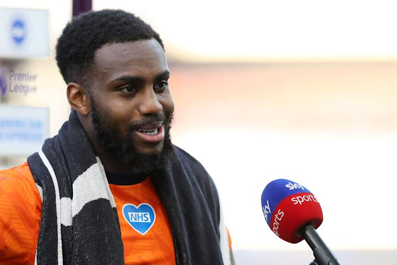 BRIGHTON, ENGLAND - JULY 20: Danny Rose of Newcastle United speaks to the media after the Premier League match between Brighton & Hove Albion and Newcastle United at American Express Community Stadium on July 20, 2020 in Brighton, England. Football Stadiums around Europe remain empty due to the Coronavirus Pandemic as Government social distancing laws prohibit fans inside venues resulting in all fixtures being played behind closed doors. (Photo by Newcastle United/Newcastle United via Getty Images)