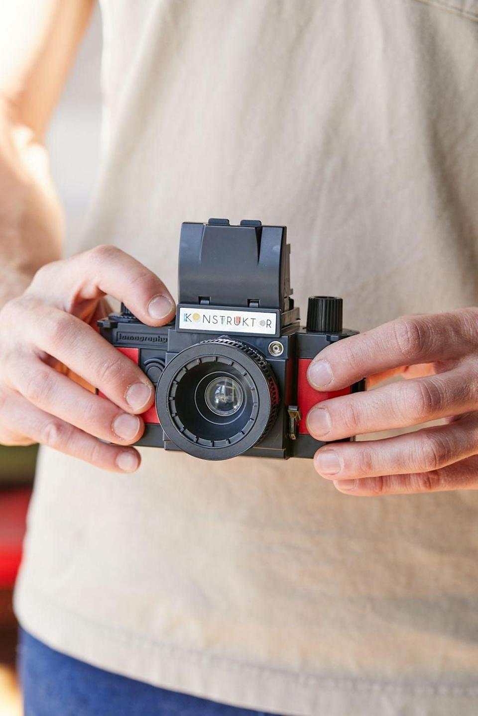 <p>If they love photography, get them a film camera that they can explore. The <span>Lomography Konstruktor F 35mm Camera</span> ($40) is both cool and affordable.</p>