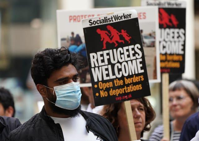 Refugee support rally