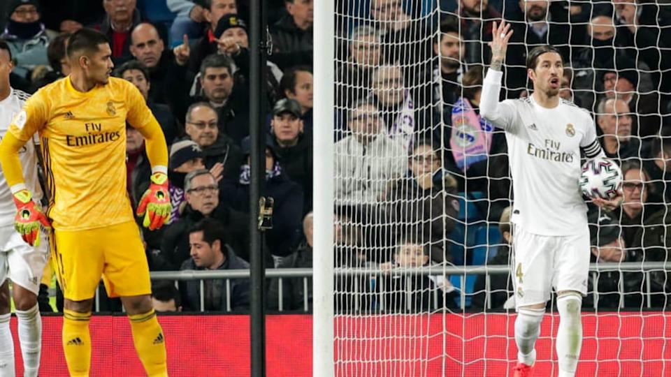 Areola e Ramos no Real Madrid | Soccrates Images/Getty Images