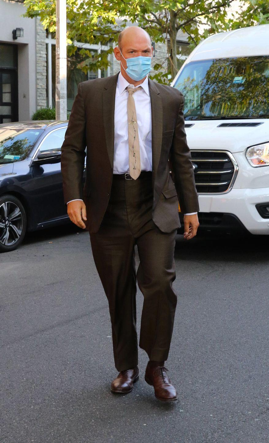 <p>Corey Stoll is seen on the set of <em>The Many Saints of Newark </em>on September 21, 2020 in New York City.</p>
