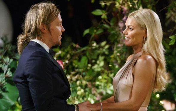 Sam impressed Sophie on the very first night and nabbed the double delight rose. Source: Channel Ten