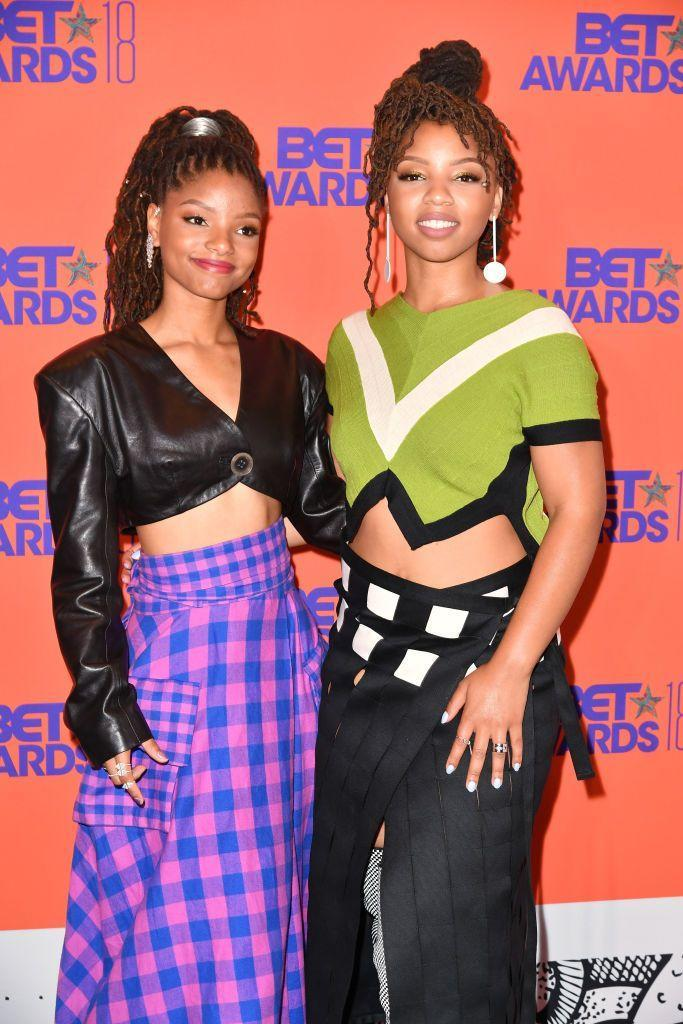 """<p>Velvet, satin, rainbow — she probably already has scrunchies galore. But one she'll certainly get more than one use out of an adorable and trendy metallic scrunchie like <strong>Halle Bailey</strong> is sporting.</p><p><a class=""""link rapid-noclick-resp"""" href=""""https://www.amazon.com/ACCGLORY-Scrunchies-Metallic-Ponytail-Scrunchy/dp/B07FSHHWF9/?tag=syn-yahoo-20&ascsubtag=%5Bartid%7C10055.g.3821%5Bsrc%7Cyahoo-us"""" rel=""""nofollow noopener"""" target=""""_blank"""" data-ylk=""""slk:SHOP METALLIC SCRUNCHIES"""">SHOP METALLIC SCRUNCHIES</a></p>"""