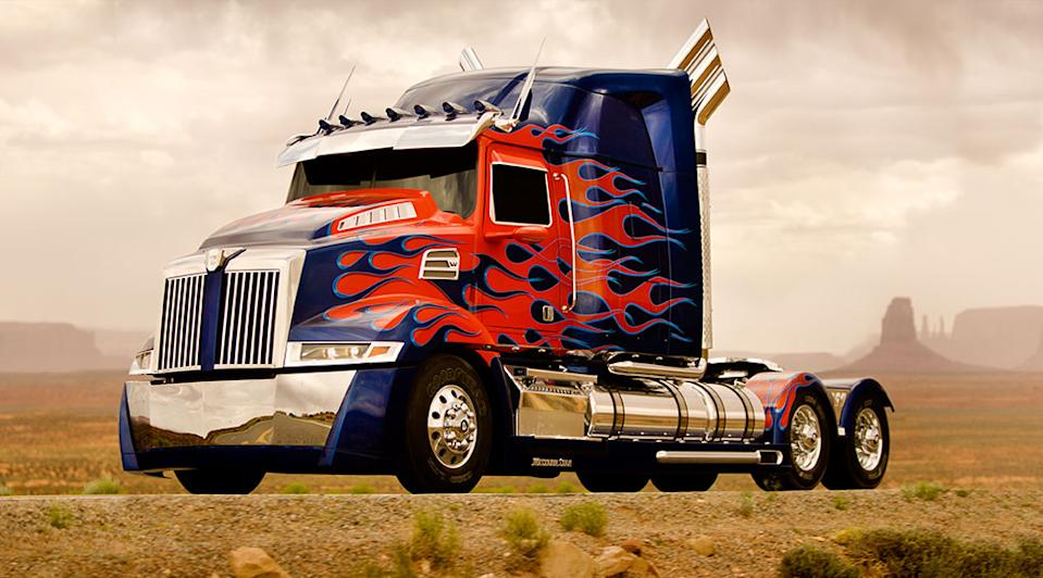 """The redesigned Optimus Prime from Paramount Pictures' """"Transformers 4"""" - 2014"""
