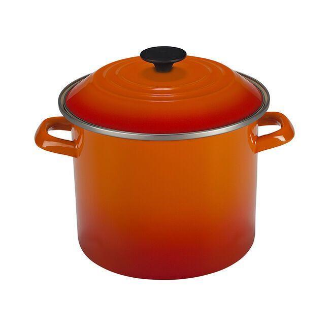 """<p><strong>Le Creuset </strong></p><p>lecreuset.com</p><p><a href=""""https://go.redirectingat.com?id=74968X1596630&url=https%3A%2F%2Fwww.lecreuset.com%2Fstockpot-factory-to-table-sale%2FN4100-FTT.html&sref=https%3A%2F%2Fwww.goodhousekeeping.com%2Flife%2Fmoney%2Fg33563225%2Fle-creuset-factory-sale-august-2020%2F"""" rel=""""nofollow noopener"""" target=""""_blank"""" data-ylk=""""slk:Shop Now"""" class=""""link rapid-noclick-resp"""">Shop Now</a></p><p><del>$95</del><strong><br>$47.50</strong></p><p>In the iconic words of House Stark, """"Winter is coming."""" If you want to make a hearty chili once the temperature drops, pick up this spacious stockpot.</p>"""