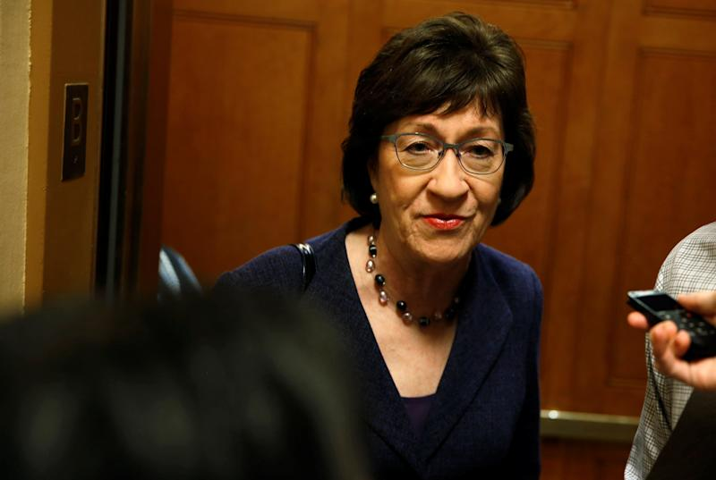 A vote for Kavanaugh would destroy Sen. Susan Collins' independent, pro-health care, pro-women's rights reputation. (Joshua Roberts / Reuters)