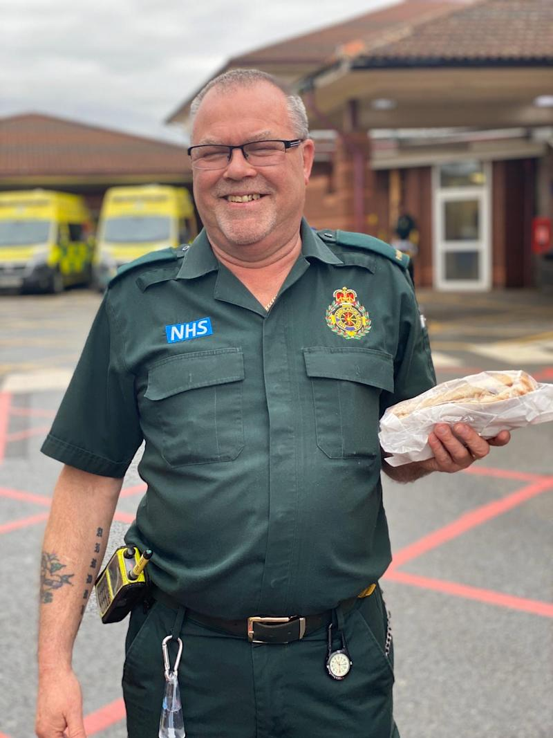 Paramedics have been collecting snacks through The Barn Kitchen's contactless drive-through system. (Picture: The Barn Kitchen)