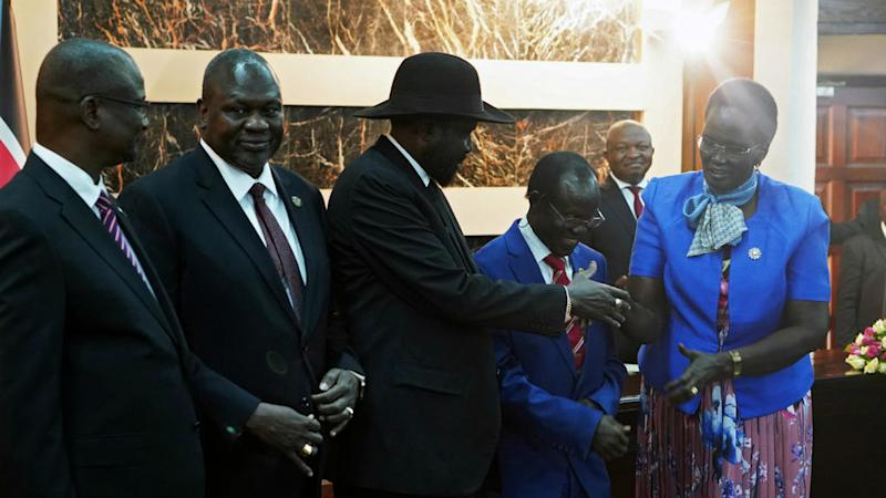 South Sudan's rivals form unity government in bid to end war