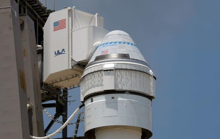 Atlas V rocket carrying Boeing's CST-100 Starliner capsule is prepared for launch to ISS, in Cape Canaveral