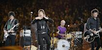 """<p>Frontman Mick Jagger started his performance wearing a sequinned morning suit jacket, and ended in a t-shirt and jeans.</p><p><a class=""""link rapid-noclick-resp"""" href=""""https://www.youtube.com/watch?v=X43UBPe1-t4&ab_channel=ElizabethBosch"""" rel=""""nofollow noopener"""" target=""""_blank"""" data-ylk=""""slk:WATCH NOW"""">WATCH NOW </a></p>"""