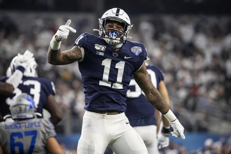 Penn State's Micah Parsons is expected to opt out of the college season and declare early for (Photo by Benjamin Solomon/Getty Images)