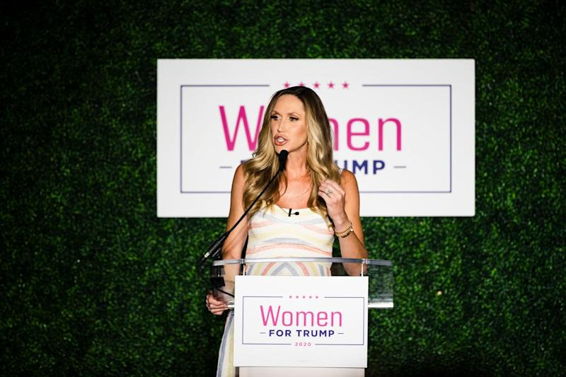 Lara Trump speaks at a Women for Trump campaign event in 2019 in Pennsylvania.