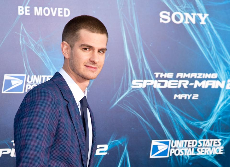 """NEW YORK, NY - APRIL 24:  Actor Andrew Garfield attends """"The Amazing Spider-Man 2"""" premiere at the Ziegfeld Theater on April 24, 2014 in New York City.  (Photo by Gilbert Carrasquillo/FilmMagic)"""
