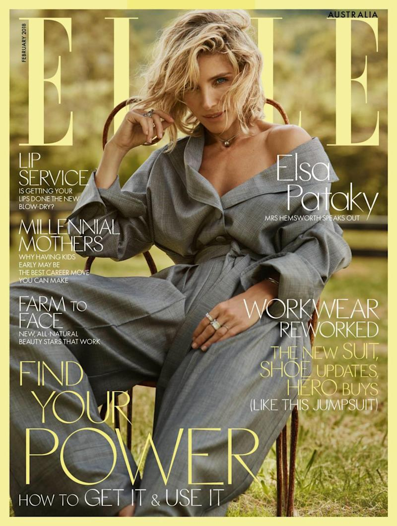 The Spanish actress appears on February's cover of Elle Australia. Source: Supplied