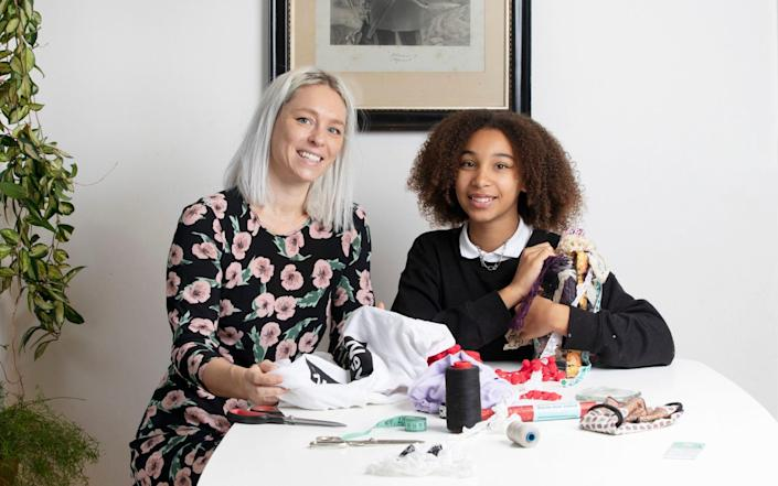 Charlotte Denn and her teenage daughter Madison make do and mend - Rii Schroer