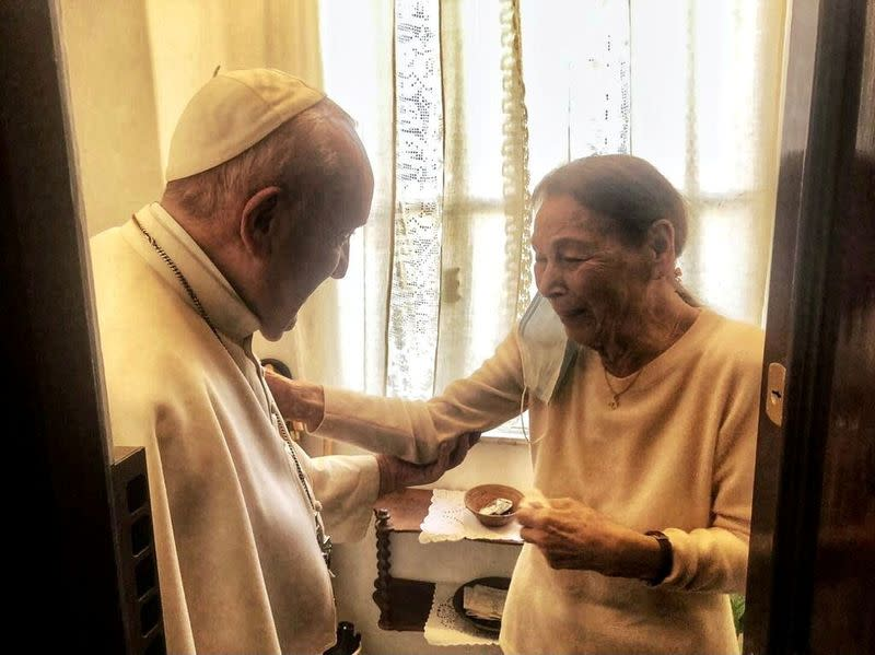 Pope Francis meets with poetess and Holocaust survivor, Edith Bruck, in Rome