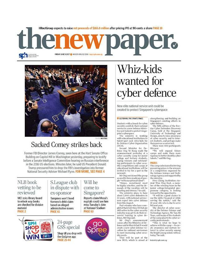 "<p>""The New Paper,"" published in<br> Singapore, The Republic of Singapore. (Newseum) </p>"