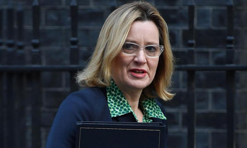 The home secretary, Amber Rudd