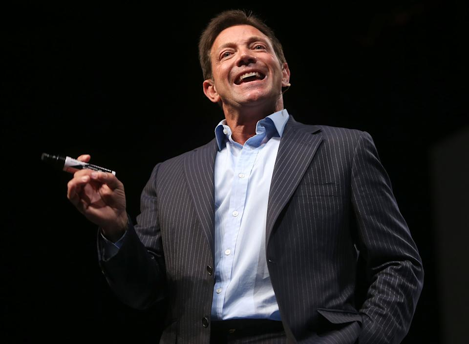 GOLD COAST, AUSTRALIA - JUNE 1:  (EUROPE AND AUSTRALASIA OUT) Motivational speaker Jordan Belfort speaks on 'The Art of Prospecting' at a real estate agents' conference at the Gold Coast Convention Centre on June 1, 2014 on the Gold Coast, Australia. (Photo by Jono Searle/Newspix/Getty Images)