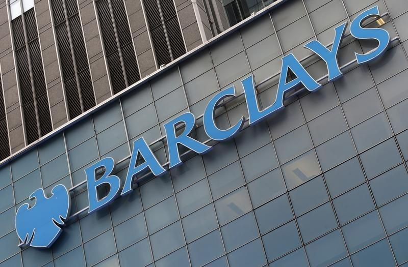 A Barclays sign is seen on the exterior of the Barclays U.S. Corporate headquarters in the Manhattan borough of New York City