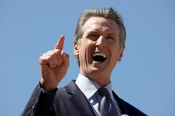California Gov. Gavin Newsom speaks during a news conference at San Francisco General Hospital on June 10, 2021 in San Francisco, California. (Justin Sullivan/Getty Images)