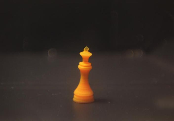 4D Printed Smart Gel Chess Piece, also developed by researchers at Rutgers.
