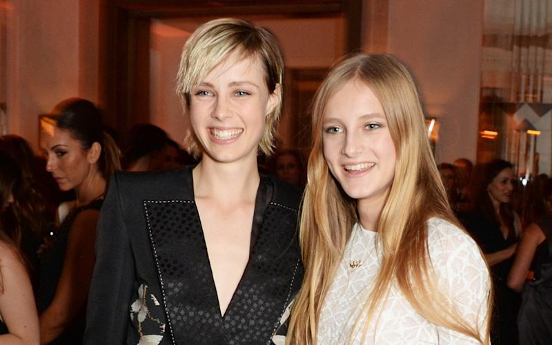 Edie Campbell (L) and Olympia Campbell at the Harper's Bazaar Women Of The Year awards 2014 at Claridge's Hotel in London - Getty Images Contributor