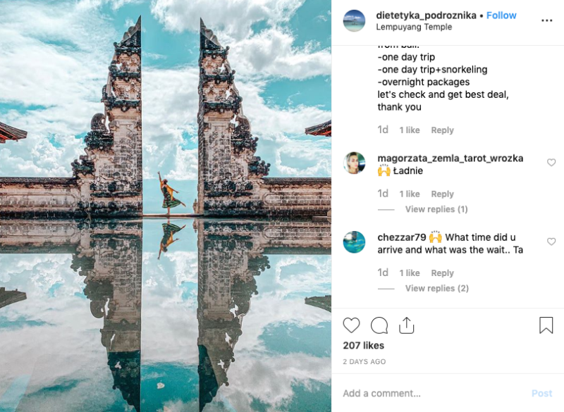 "The temple gate is known to the western world as ""The Gates of Heaven"" and has featured in hundreds of Instagram posts in recent years. Source: Instagram"