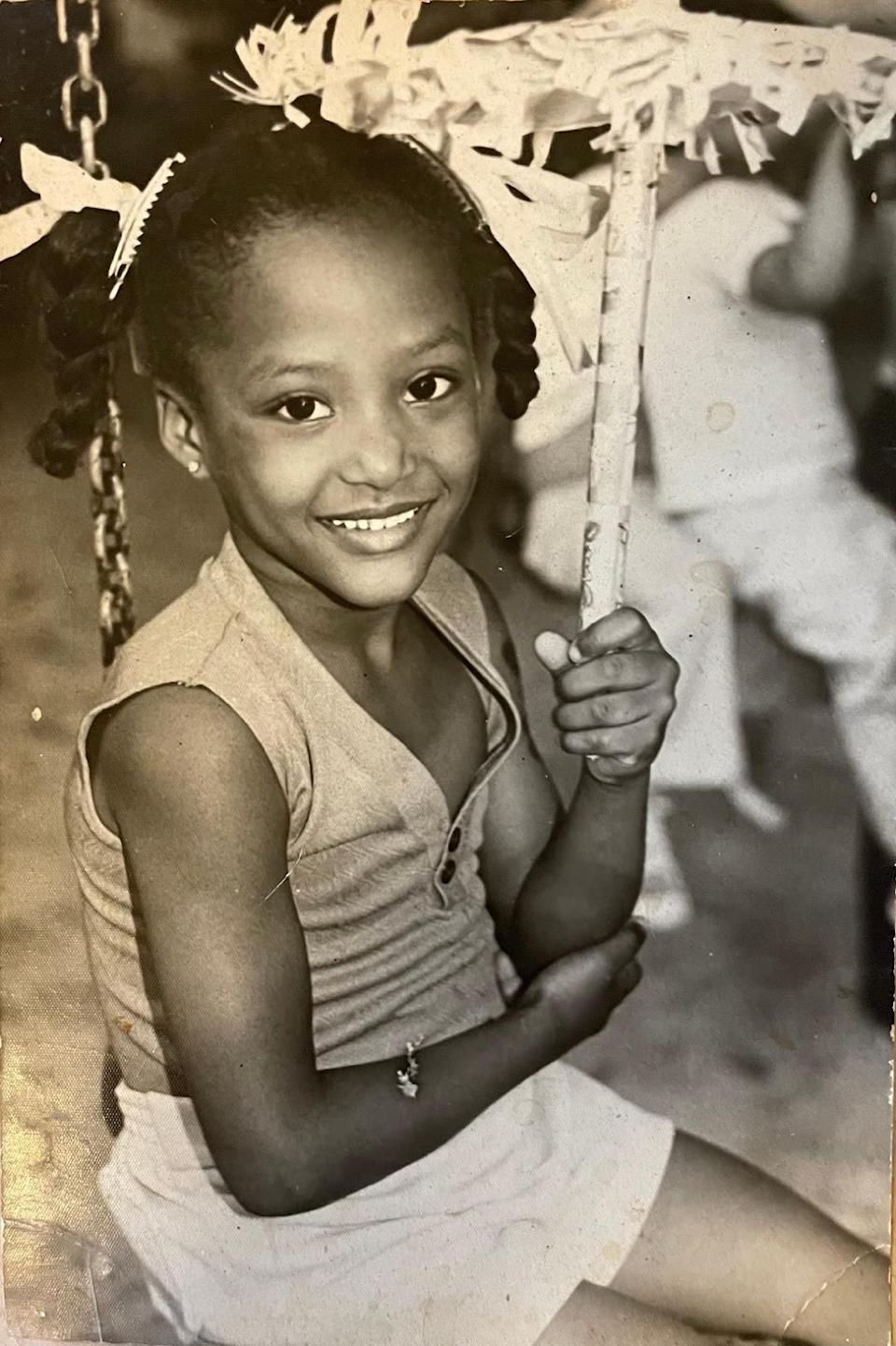 Annia Hatch as a child in Cuba (Courtesy of the athlete)