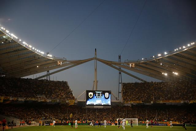 Soccer Football - Greek Cup Final - AEK Athens vs PAOK Salonika - Athens Olympic Stadium, Athens, Greece - May 12, 2018 General view during the match REUTERS/Alkis Konstantinidis