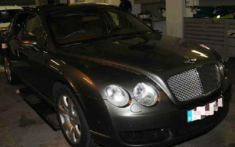 The gang modified the roof of the £130,000 Bentley Flying Spur to stash drugs and more than £100,000 in cash - PA