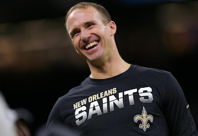 Drew Brees didn't stick to football. (Getty)