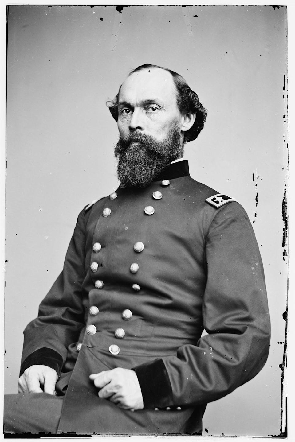 Undated photograph of Major Gen. Gordon Granger. On June 19, 1865,  flanked by Union soldiers under his command, he read a proclamation that all enslaved people were free.