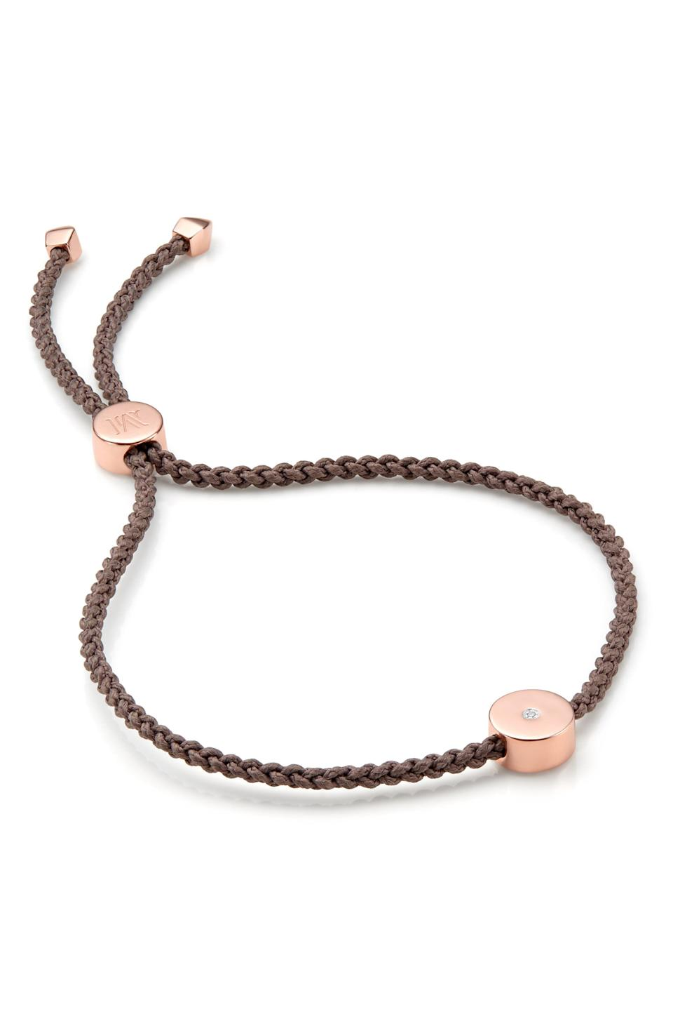 """<p><strong>MONICA VINADER</strong></p><p>nordstrom.com</p><p><a href=""""https://go.redirectingat.com?id=74968X1596630&url=https%3A%2F%2Fwww.nordstrom.com%2Fs%2Fmonica-vinader-linear-solo-diamond-friendship-bracelet%2F5866674&sref=https%3A%2F%2Fwww.townandcountrymag.com%2Fstyle%2Ffashion-trends%2Fg36557314%2Fnordstrom-half-yearly-sale-may-2021%2F"""" rel=""""nofollow noopener"""" target=""""_blank"""" data-ylk=""""slk:Shop Now"""" class=""""link rapid-noclick-resp"""">Shop Now</a></p><p>$90</p><p><em>Original Price: $150</em></p><p><strong>More:</strong> <a href=""""https://www.townandcountrymag.com/style/jewelry-and-watches/g34464609/kate-middleton-meghan-markle-wear-monica-vinader-jewelry/"""" rel=""""nofollow noopener"""" target=""""_blank"""" data-ylk=""""slk:Meghan Markle and Kate Middleton Both Wear Monica Vinader"""" class=""""link rapid-noclick-resp"""">Meghan Markle and Kate Middleton Both Wear Monica Vinader</a><br></p>"""