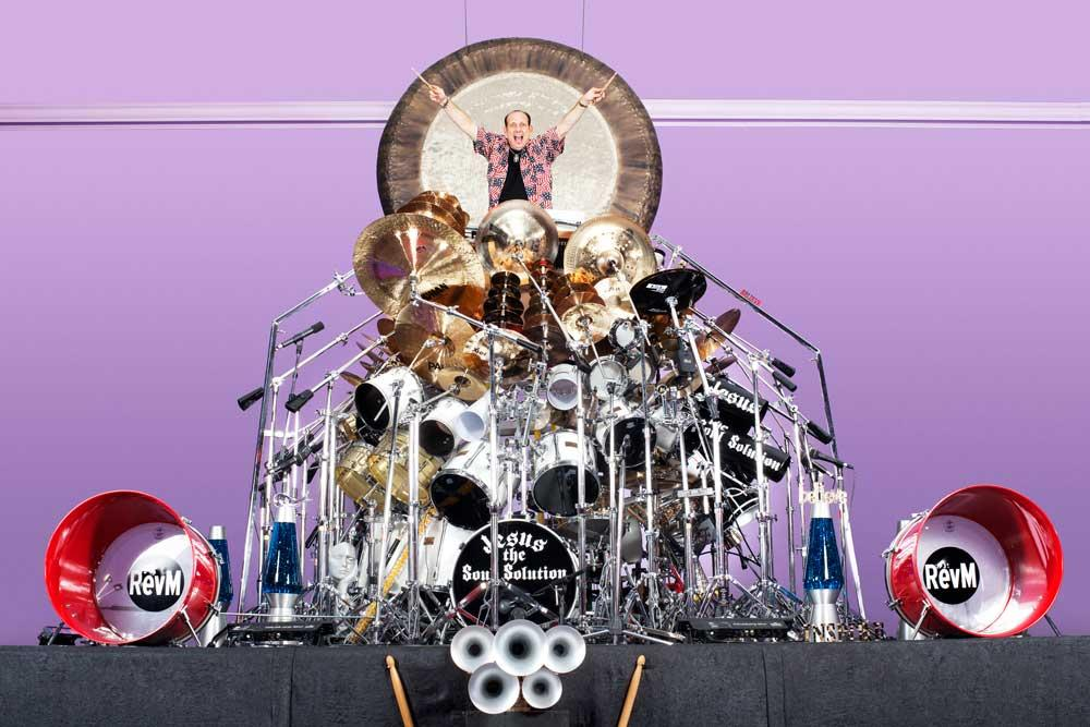 The largest drum set is comprised of 340 pieces, is owned by Dr. Mark Temperato (USA) and was counted in Lakeville, New York, USA.