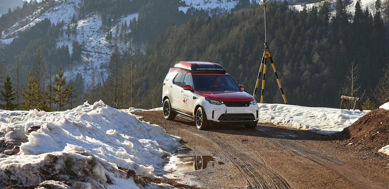<p>The one-off Land Rover Discovery, which is to be used by the Austrian Red Cross, was unveiled at the Geneva Motor Show. </p>