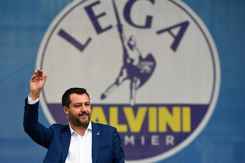 Italian Deputy Prime Minister and Interior Minister Matteo Salvini, who organised the rally, is trying to unite Europe's nationalists into a powerful force in the European Parliament (AFP Photo/Miguel MEDINA)