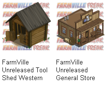 FarmVille Unreleased Western Theme Tool Shed & General Store