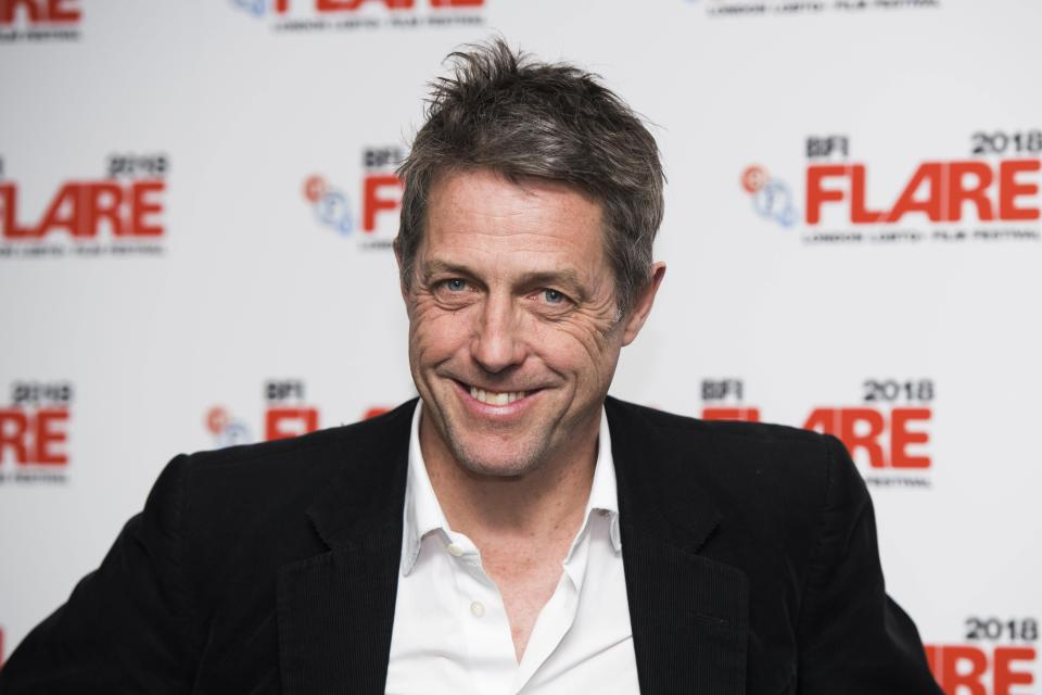 Hugh Grant attends the 30th Anniversary Screening of Maurice at the BFI Southbank, London. Picture date: 26th March 2018. Photo credit should read: David Jensen/ EMPICS Entertainment