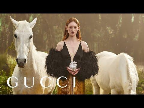 """<p>So, the rumours were true. To celebrate Gucci's 100th Anniversary, the brand released a collection titled 'Aria', and is was 'hacked' by Balenciaga. The show and collection a delightful mash-up of both fashion titans' signature pieces, for example hourglass blazers from Balenciaga and all things equestrian from Gucci, and is available to watch here. </p><p>Truly a fashion-lover's paradise. </p><p><a href=""""https://www.youtube.com/watch?v=H14DatRx0Uo&ab_channel=GUCCI"""" rel=""""nofollow noopener"""" target=""""_blank"""" data-ylk=""""slk:See the original post on Youtube"""" class=""""link rapid-noclick-resp"""">See the original post on Youtube</a></p>"""