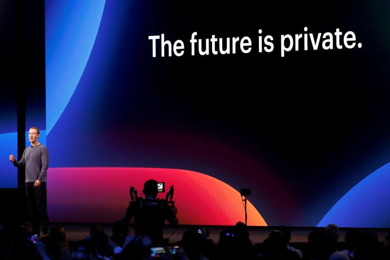 FILE PHOTO: Facebook CEO Mark Zuckerberg makes his keynote speech during Facebook Inc's annual F8 developers conference in San Jose