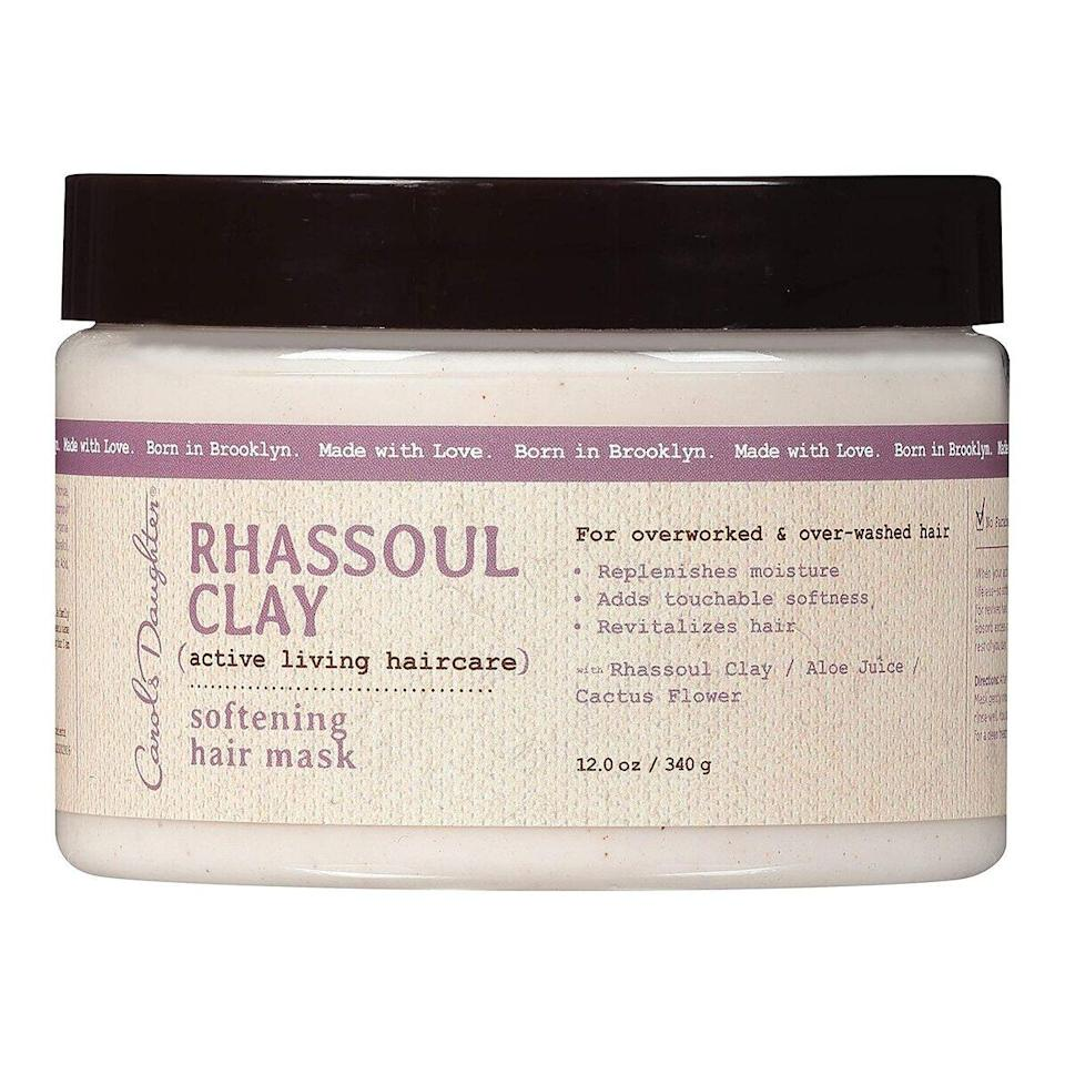 The Carol's Daughter Rhassoul Clay mask uses a blend of Moroccan rhassoul clay, aloe juice, and cactus flower to absorb excess oil as it conditions strands. If your hair has become dull or brittle from overstyling, just add this into your wash-day routine and watch it come back to life.