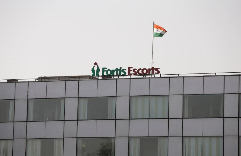 FILE PHOTO: A Fortis hospital building is pictured in New Delhi